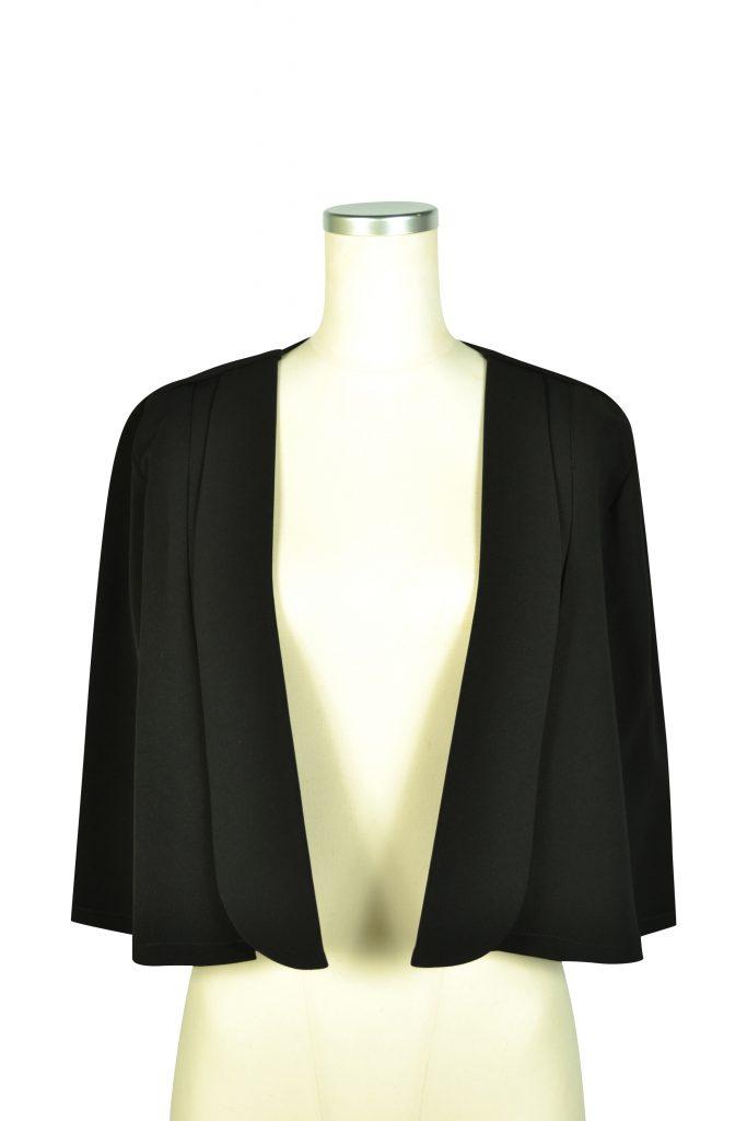 カレン(Karen) シンプルケープ袖ブラックジャケット