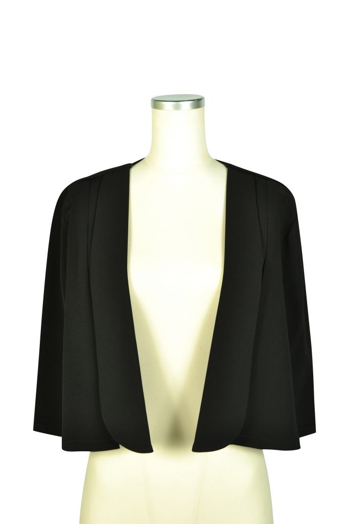 カレン (Karen) シンプルケープ袖ブラックジャケット