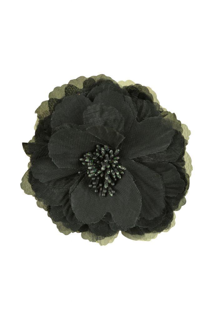 デリセノアール (DELLISE NOIR) ブラックフラワーコサージュ