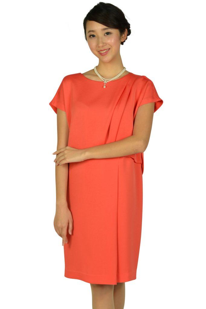 グレースクラス(GRACE CLASS) フレンチスリーブオレンジドレス