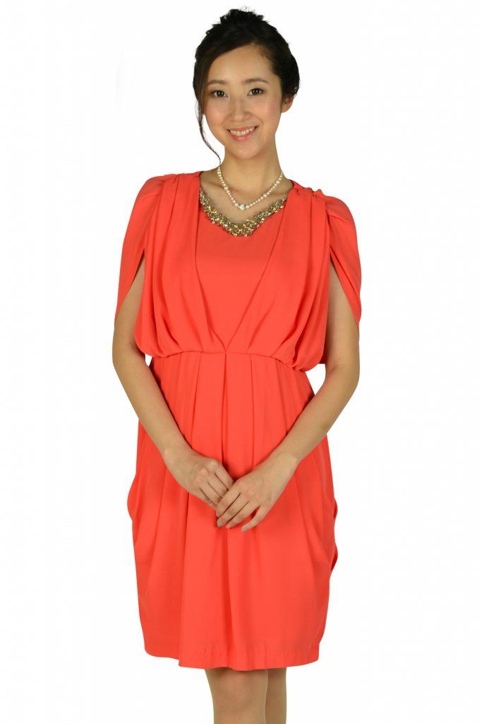 アーバンリサーチ ロッソ(URBAN RESEARCH ROSSO) ゴージャスオレンジドレス