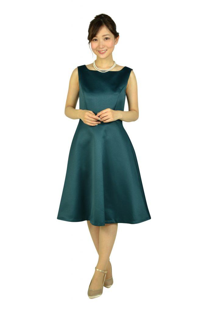 ストロベリーフィールズ(STRAWBERRY-FIELDS) 上品シンプルグリーンドレス
