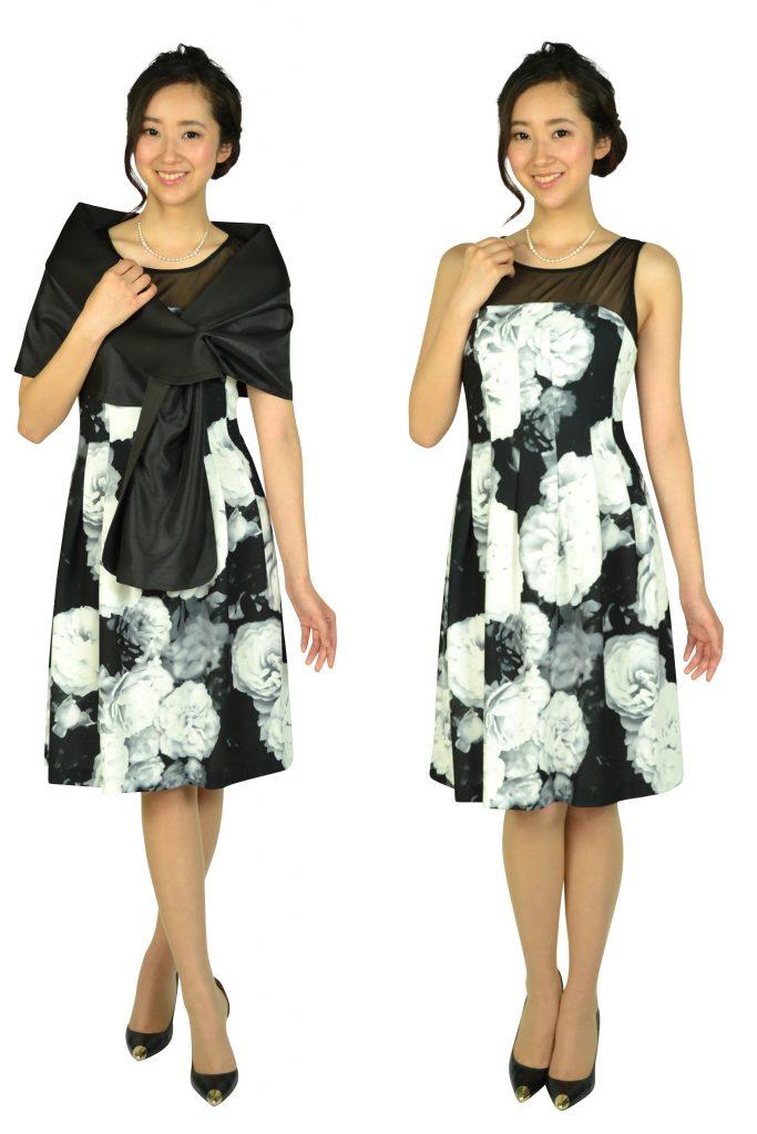 カルバンクライン(Calvin Klein) エレガントフラワーブラックドレスセット
