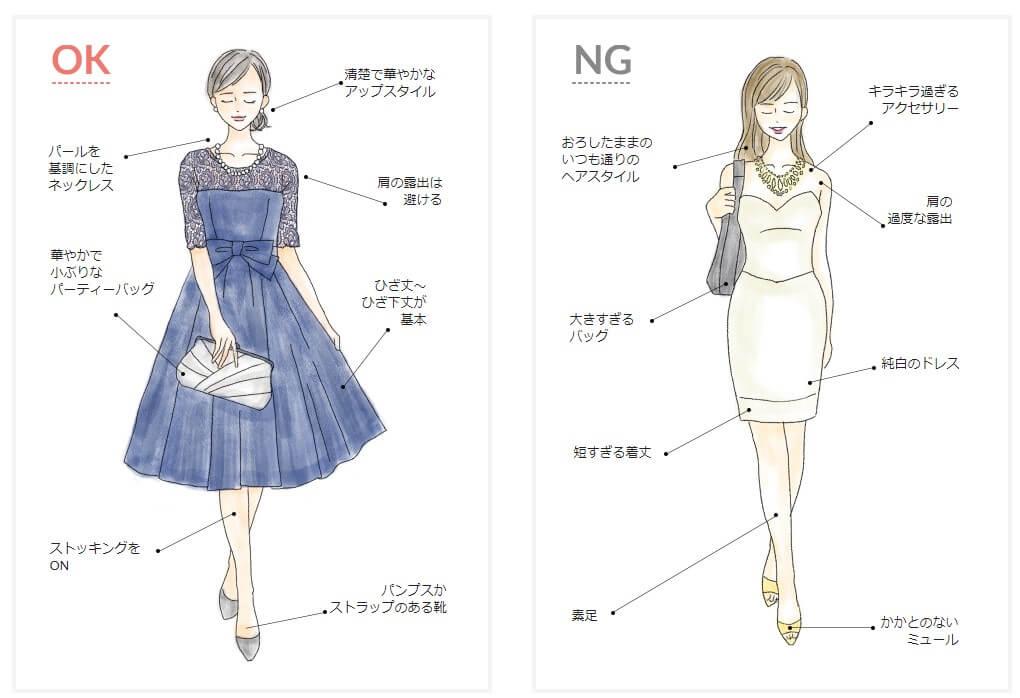 結婚式服装OKNG