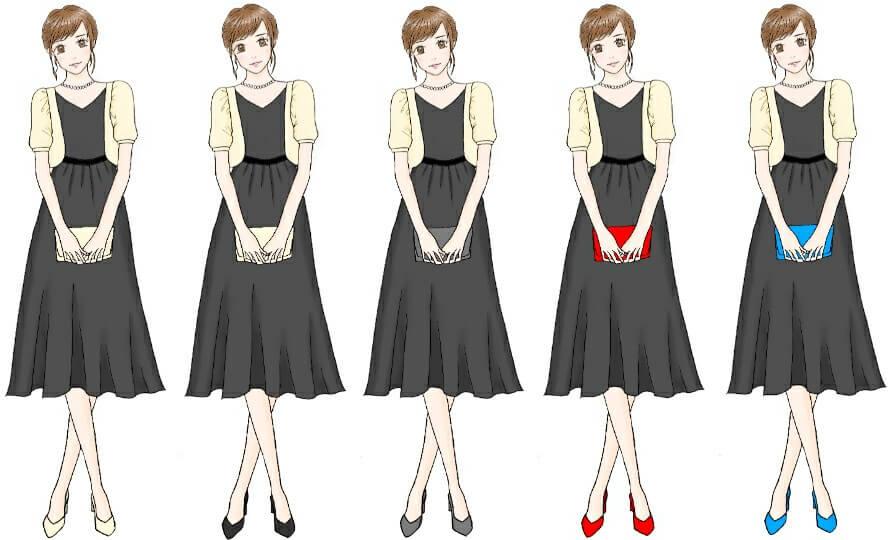 ブラックドレスのコーディネート