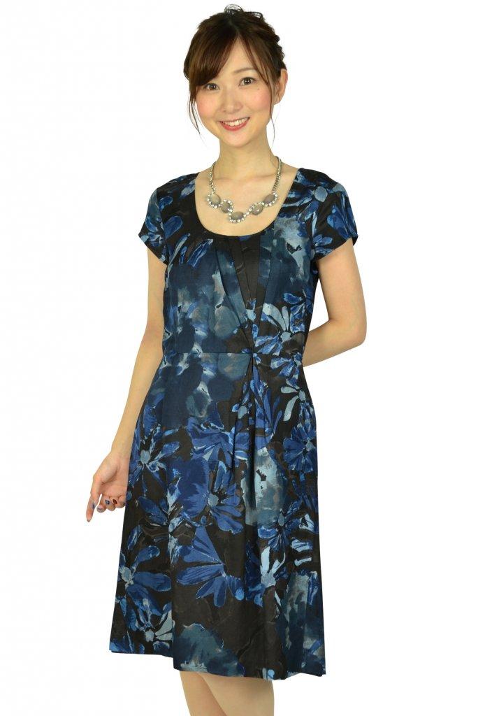 バナナ・リパブリック(BANANA REPUBLIC) ブループリント柄ドレス