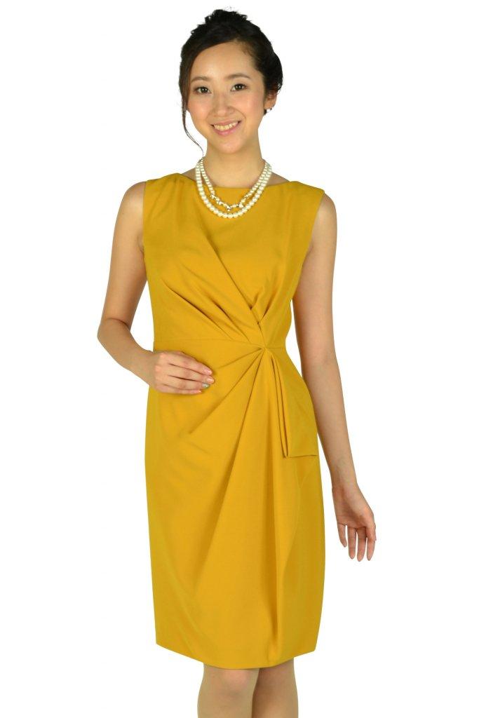 グレースコンチネンタル (GRACE CONTINENTAL) 大人タックマスタードドレス