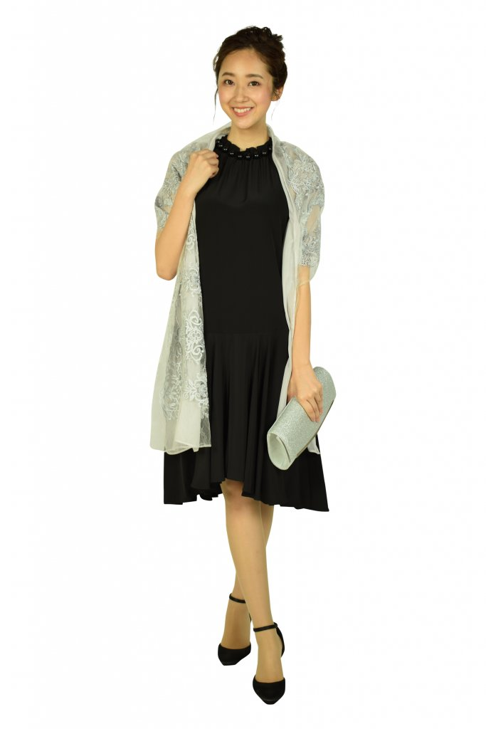  EMPORIO ARMANI ホルターネックブラックドレス