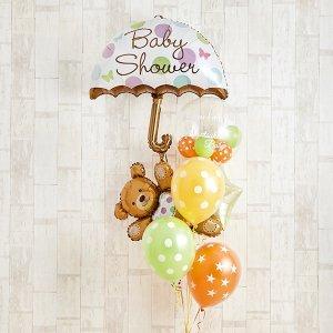 Balloon Kitchen キュートなテディベアーがひょっこり顔を出すBaby Shower