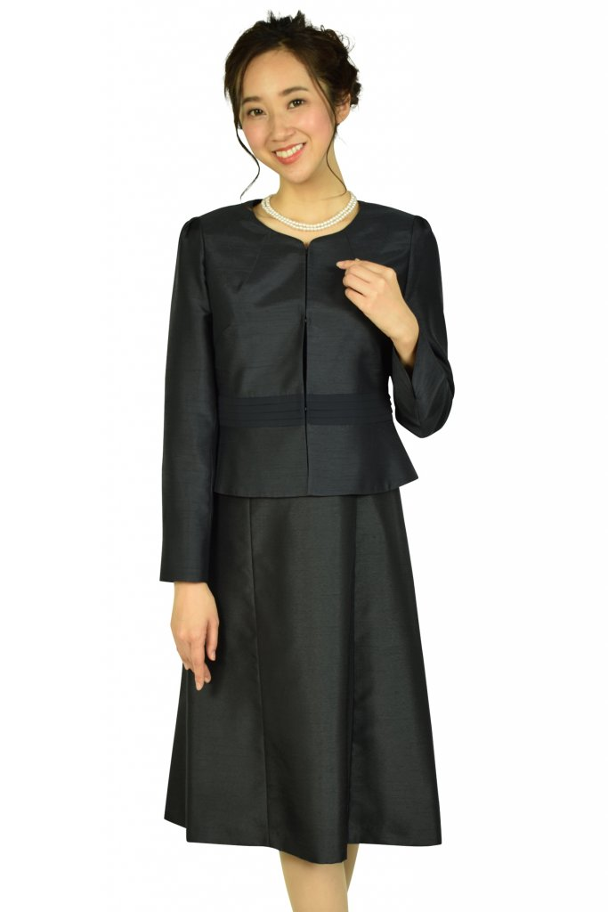 ドレス デコ (DRESS DECO) 上品シャンタンセレモニーネイビードレスセット