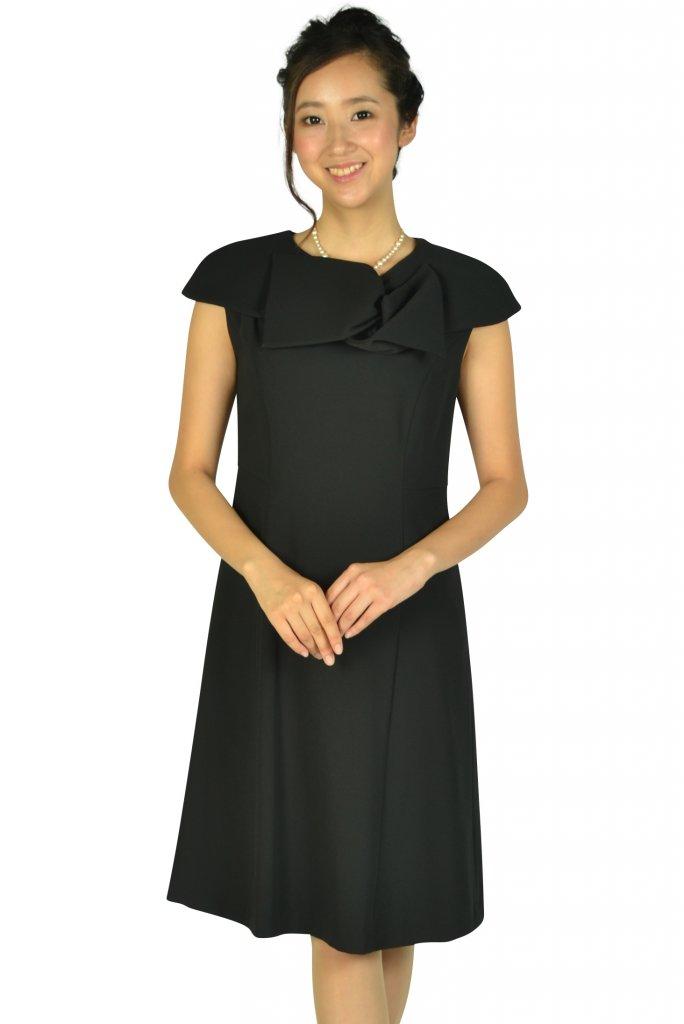 ケティ (ketty) 上品付け襟ブラックドレス