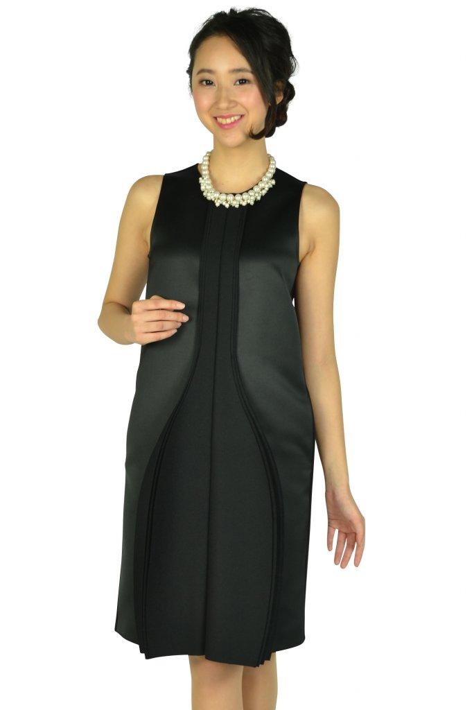 エンポリオ アルマーニ (EMPORIO ARMANI) ハイデザインブラックドレス