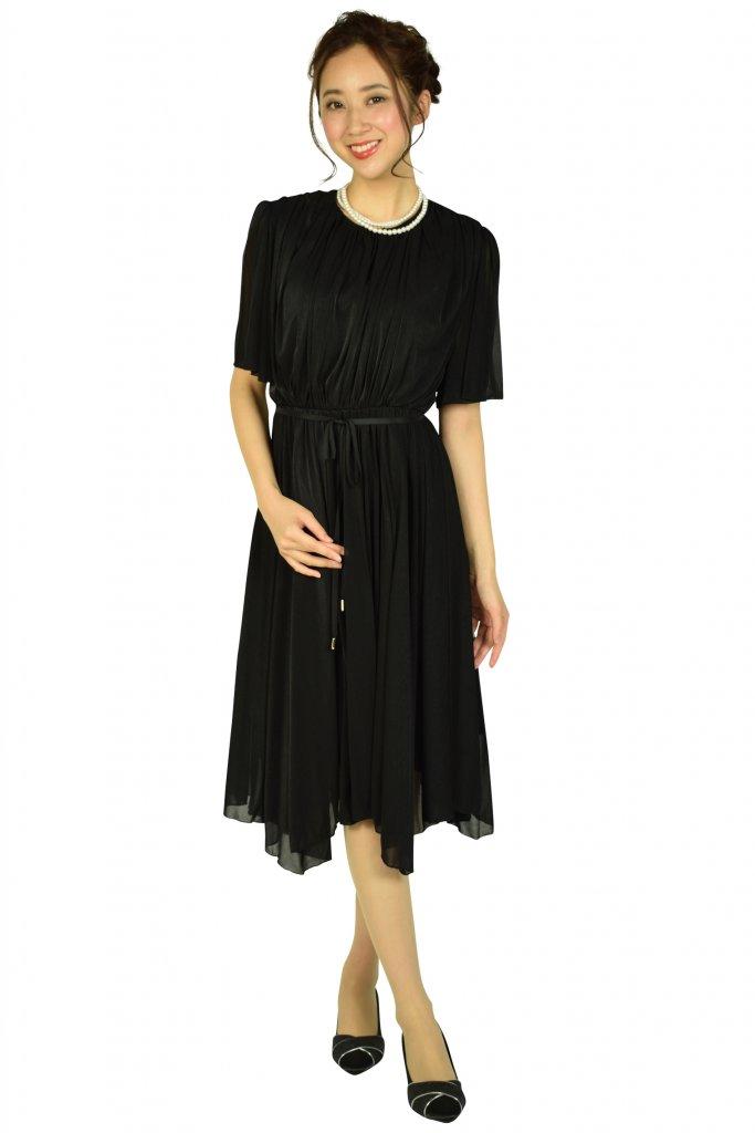 フェテローブ (FeteROBE) イレギュラーヘムシャイニーブラックドレス