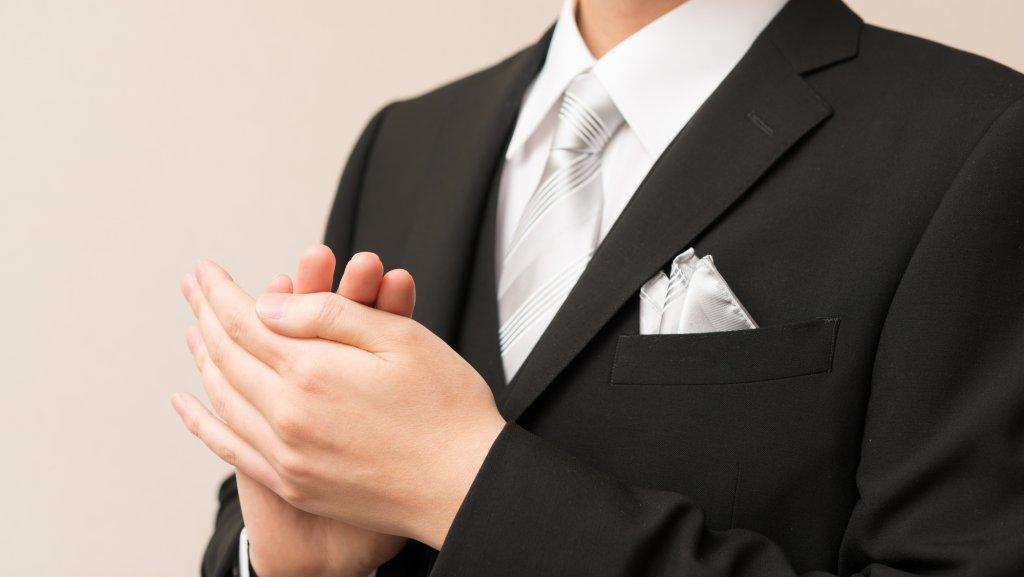 結婚式の叔父の服装