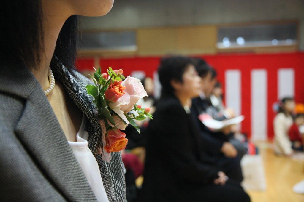 40代ママの卒業式 コサージュ
