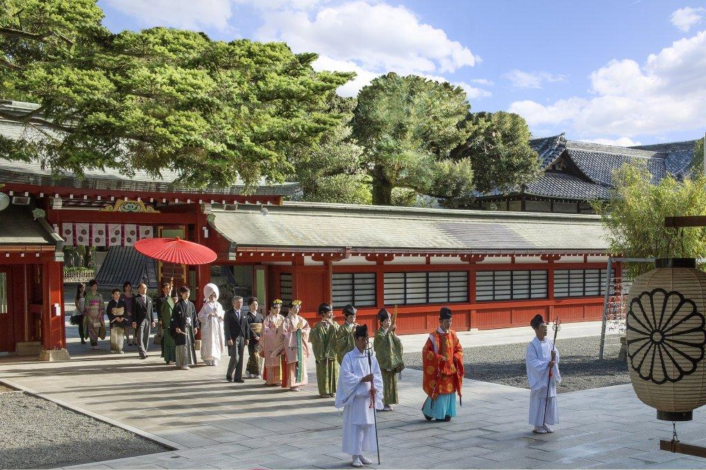 大國魂神社結婚式場 参進の儀