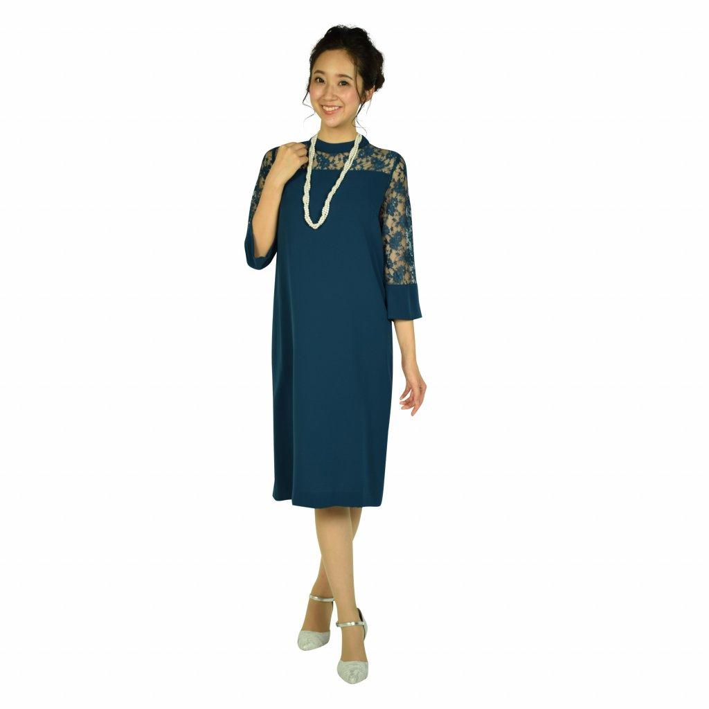 組曲 ゆったりブルーグリーンドレス