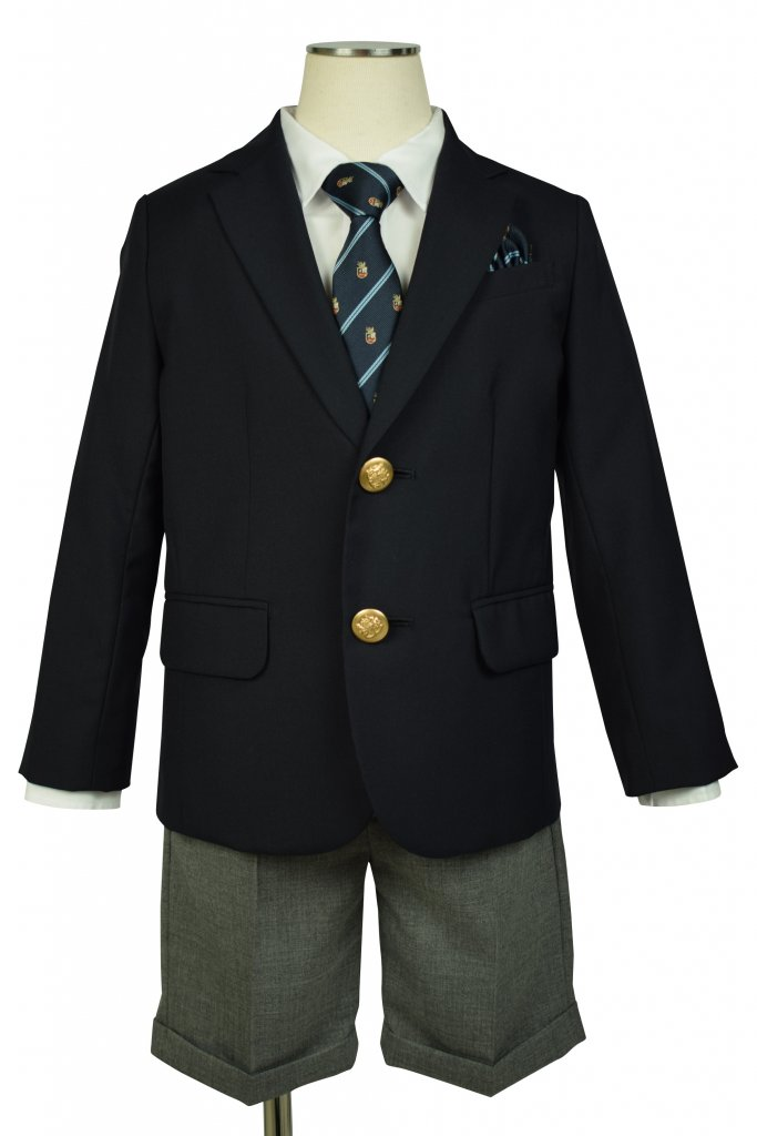 UNITED ARROWS green label relaxing 濃紺ブレザー×グレースーツセット