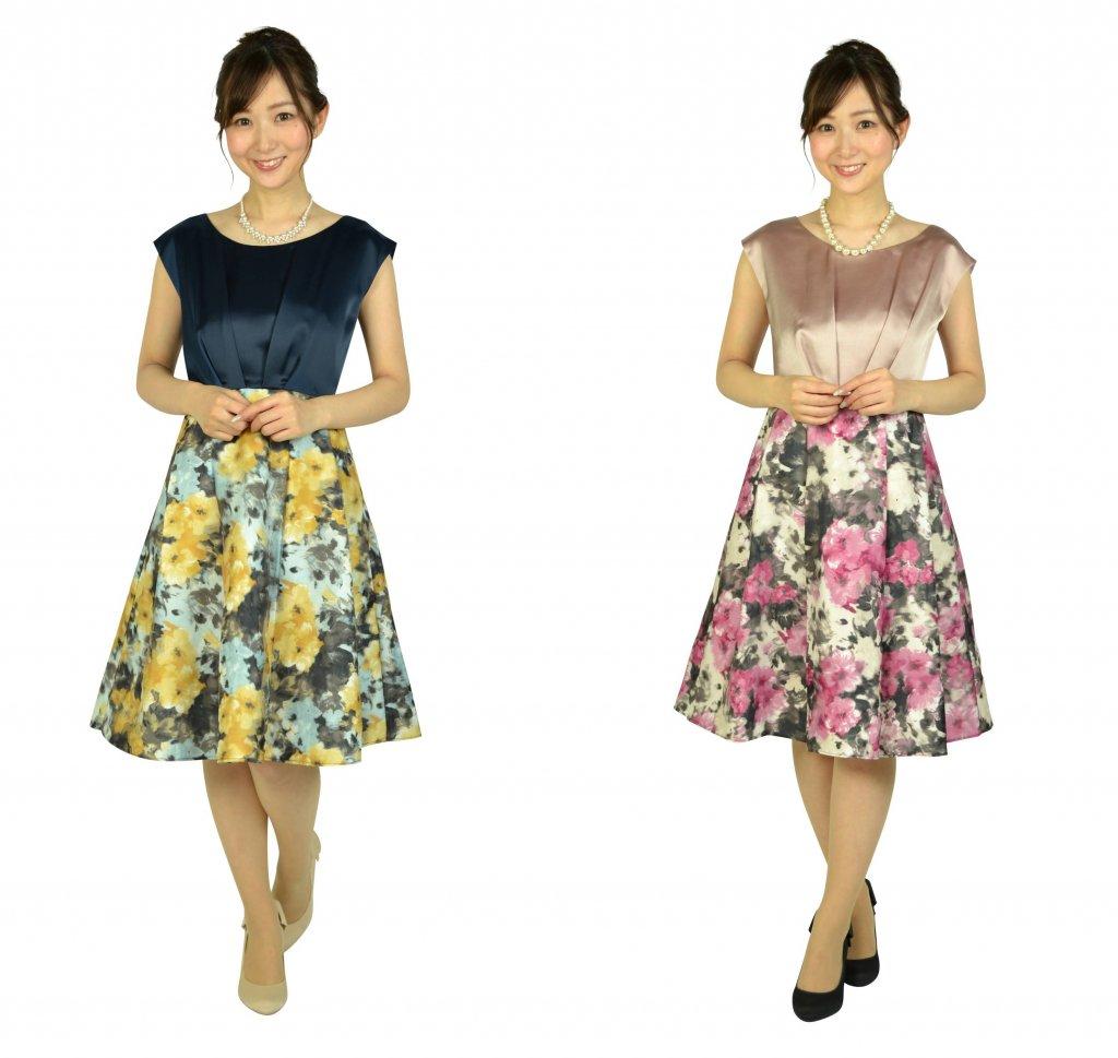 ドレス自体がお花畑の様なこのドレス